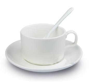 Кружка белая сублимационная, кофейный набор