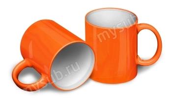 Сублимационная кружка хамелеон оранжевая