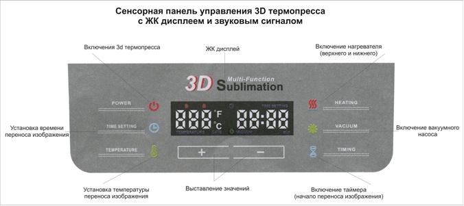 Инструкция для вакуумного 3D термопресса