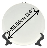 Тарелка фарфоровая белая 14 (для 3D термопресса)